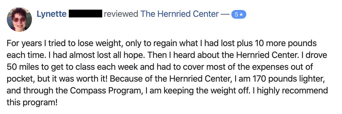 hernried center testimonial
